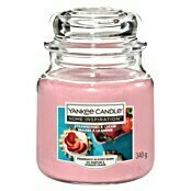 Yankee Candle Home Inspirations Duftkerze (Im Glas, Strawberries & Cream, Medium)