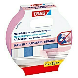 tesa Malerband Tapeten (25 m x 25 mm)