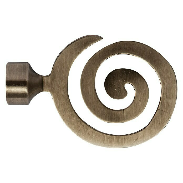 Tapa final Eclectic espiral bronce (1 ud.)