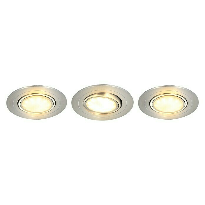 Tween Light LED-Einbauleuchten-Set (3 x 5 W, Rund, Nickel matt, Warmweiß)