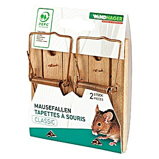 Windhager Mausefalle Classic Wood (Schlagfalle, Holz, 2 Stk.)(Schlagfalle, Holz, 2 Stk.)