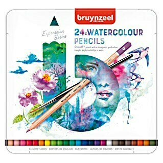 Talens Bruynzeel Set lápices de colores Watercolour (24 uds., Grosor de trazo: 2,9 mm)(24 uds., Grosor de trazo: 2,9 mm)
