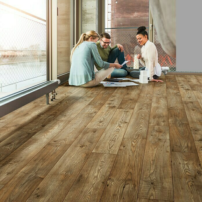 MyStyle MyDream Laminado AC5-33 Witches Wood (1.285 x 192 x 14 mm, Efecto madera campestre)
