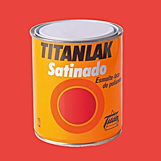 Titan Titanlak Esmalte de poliuretano rojo china (750 ml, Satinado)(750 ml, Satinado)