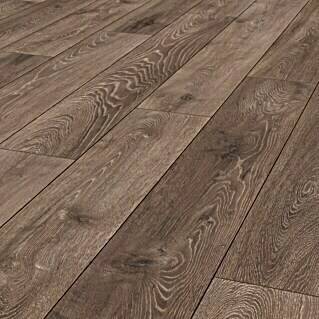 LOGOCLIC Aquaprotect Laminat Night Oak (1.285 x 192 x 8 mm, Landhausdiele)(1.285 x 192 x 8 mm, Landhausdiele)