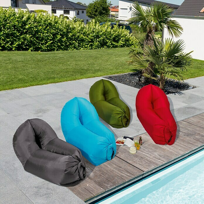 Air Lounge Sofa Peacock (L x B: 180 x 90 cm, Grau)