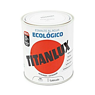 Titanlux Esmalte de color Eco (Blanco, 750 ml, Satinado)(Blanco, 750 ml, Satinado)