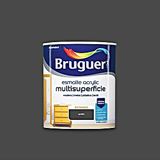 Bruguer Esmalte de color Acrylic Multisuperficie (Grafito, 750 ml, Satinado)(Grafito, 750 ml, Satinado)