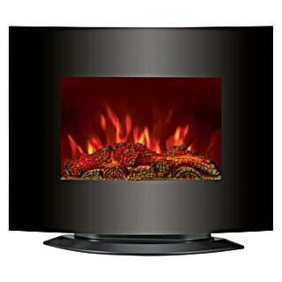 Voltomat HEATING Chimenea eléctrica Curved (1.800 W, Negro, L x An x Al: 27 x 65 x 56 cm)(1.800 W, Negro, L x An x Al: 27 x 65 x 56 cm)