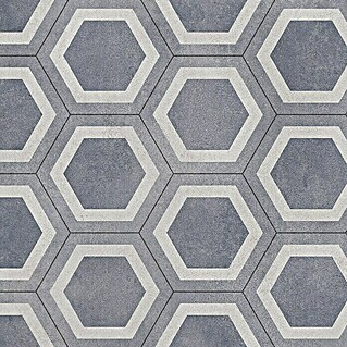 Tarkett Suelo vinílico a metros Exclusive Honeycomb tile blue (Ancho: 2 m)(Ancho: 2 m)