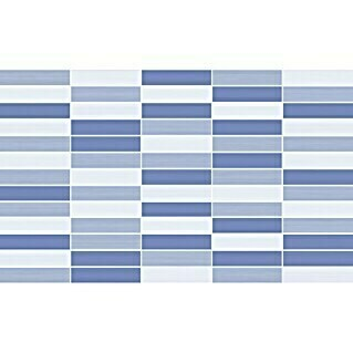 Revestimiento de pared Mosaico Mix (33 x 55 cm, Azul/Blanco, Brillante)(33 x 55 cm, Azul/Blanco, Brillante)