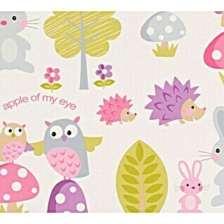 AS Creation Boys And Girls 6 Papiertapete Eule Apple Of My Eye (Bunt, Motiv, 10,05 x 0,53 m)