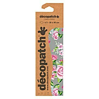 Décopatch Papel decorativo Rosas (Multicolor, 3 uds., 40 x 30 cm)