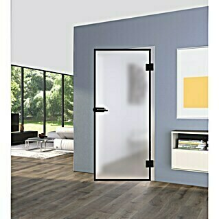 Diamond Doors Black Edition Glasdrehtür-Set Edge (834 x 1.972 mm, Einscheibensicherheitsglas (ESG))