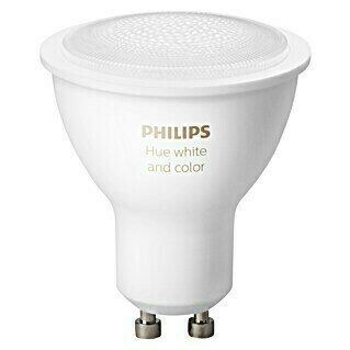 Philips Hue Bombilla LED (GU10, 5,7 W, RGBW, Intensidad regulable, 1 ud.)