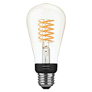 Philips Hue LED-Leuchtmittel White Filament (E27, 7 W, Warmweiß, ST64, Dimmbar)(E27, 7 W, Warmweiß, ST64, Dimmbar)
