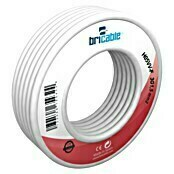 Bricable Cable eléctrico H05VV-F3G1,5 (H05VV-F3G1,5, 10 m, Blanco)