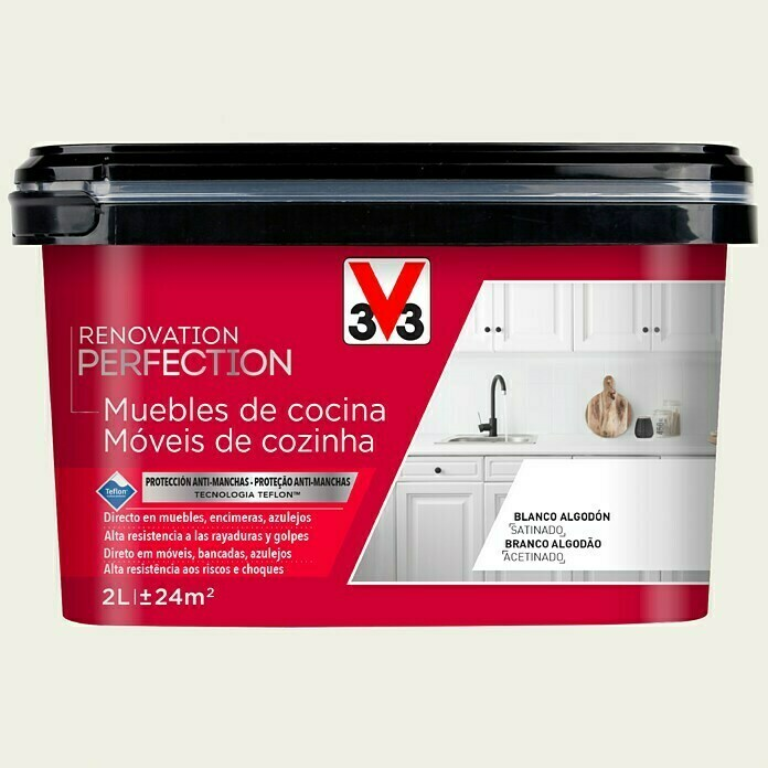 V33 Esmalte Cocinas Renovation Perfection (Lino, 2 l, Satinado)
