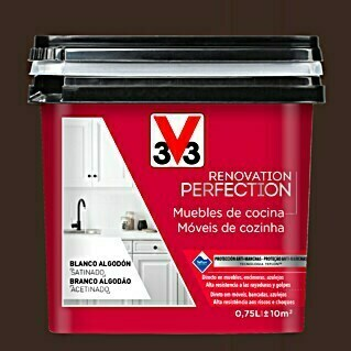 V33 Esmalte Cocinas Renovation Perfection negro cuarzo (750 ml, Satinado)(750 ml, Satinado)