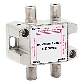 Metronic Distribuidor F 1 In 3 Out (x 3, Tipo de conexión: Conector F, Frecuencia: 5 - 2.300 MHz)(x 3, Tipo de conexión: Conector F, Frecuencia: 5 - 2.300 MHz)