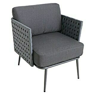 Loungesessel Beltano (B x T x H: 78 x 71 x 78 cm, Stahl, Anthrazit)(B x T x H: 78 x 71 x 78 cm, Stahl, Anthrazit)