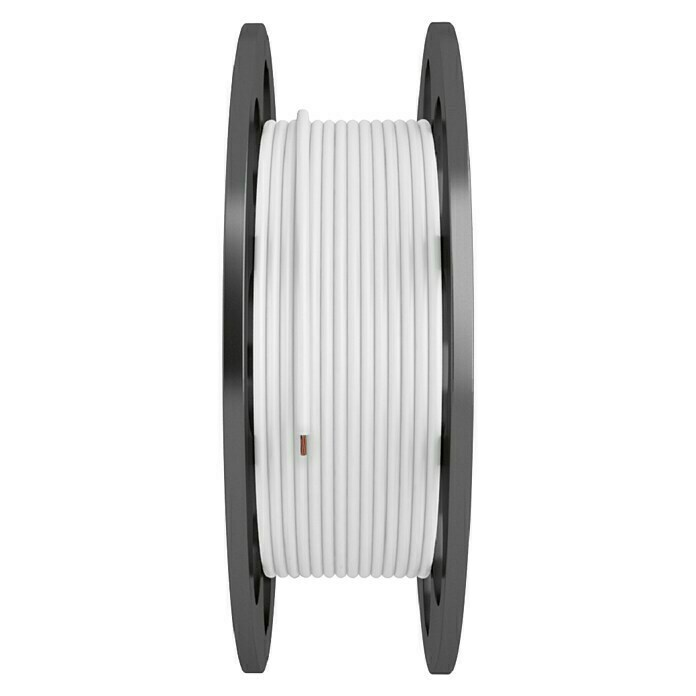 Bricable Cable coaxial a metros (Blanco, 7 mm)
