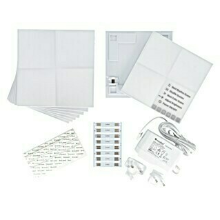 Nanoleaf LED-Panel Canvas 9er Starter Kit (9 W, Weiß, L x B x H: 10,5 x 10,5 x 1 cm)