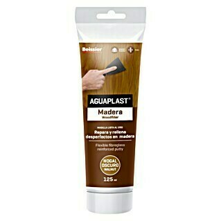 Beissier Aguaplast Masilla para madera (Nogal oscuro, 125 ml)(Nogal oscuro, 125 ml)