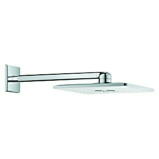 Grohe Kopfbrausen-Set Rainshower Smartactive 310 Cube (31 x 31 cm, 25 l/min bei 3 bar, Wandmontage, Moonwhite/Chrom)(31 x 31 cm, 25 l/min bei 3 bar, Wandmontage, Moonwhite/Chrom)