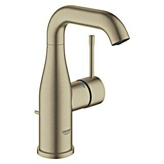 Grohe Essence New Waschtischarmatur M-Size (Mit Zugstange, Nickel, Matt)