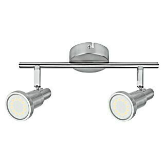 Ledvance LED-Deckenstrahler (2 x 3 W, Länge: 275 mm, Warmweiß, Nickel matt)