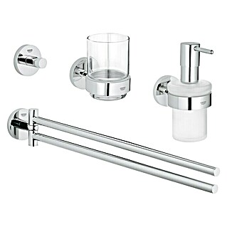 Grohe Essentials Bad-Set 4in1 Variante 1 (4-tlg., Chrom, Glänzend)
