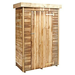 Forest-Style Armario de jardín Theo (Natural, 131 x 60 cm, Puerta de una hoja)(Natural, 131 x 60 cm, Puerta de una hoja)