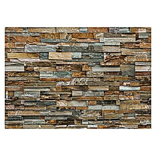 Fotomural Colorful stone wall (366 x 254 cm, Papel)(366 x 254 cm, Papel)