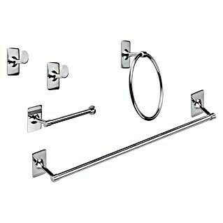 Bath Stage Set de baño B-Label (5 piezas, Cromo, Brillante)