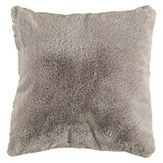 Kissen Happy (Taupe, 48 x 48 cm, 100 % Polyester)