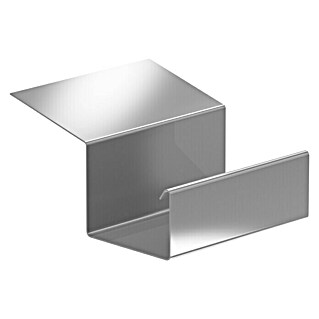 Sarei Piccolo Dakgootverbinder (Nominale breedte: 70 mm, Aluminium, Naturel)(Nominale breedte: 70 mm, Aluminium, Naturel)
