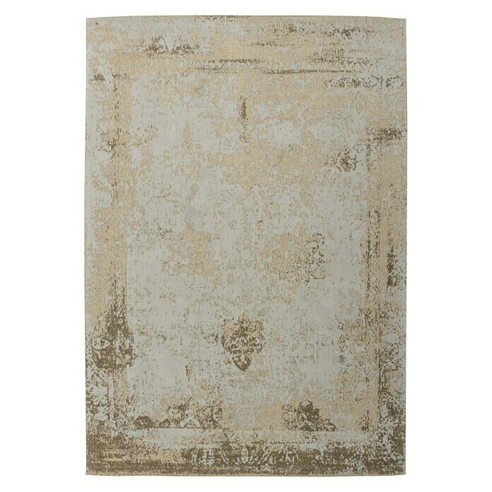 Kayoom Teppich Select 275 (Sand, L x B: 230 x 160 cm, 50% Baumwolle, 50% Polyester Chenille) -
