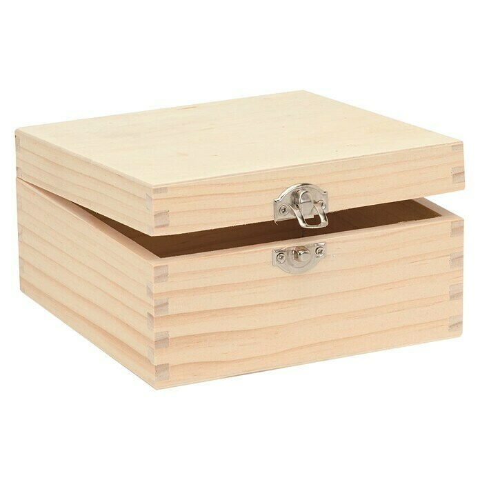 Holzbox (16 x 16 x 8,5 cm, Holz) -