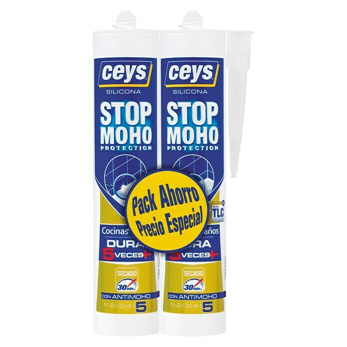 Ceys Silicona Stop Moho Pack (Blanco, 2 uds.)