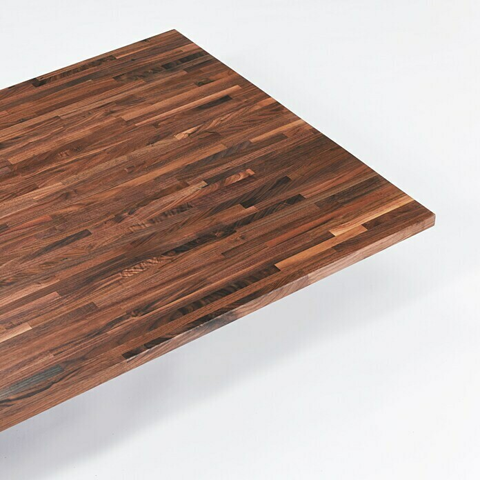 Exclusivholz Massivholzplatte (Walnuss, 260 x 80 x 2,6 cm)