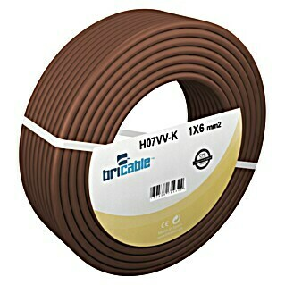 Bricable Cable unipolar fase 1x6 (H07V-K1x6, 25 m, Marrón)