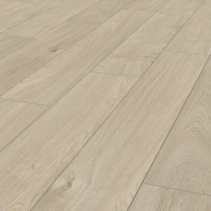 LOGOCLIC Aquaprotect Laminat Nature Oak (1.285 x 192 x 8 mm, Landhausdiele)