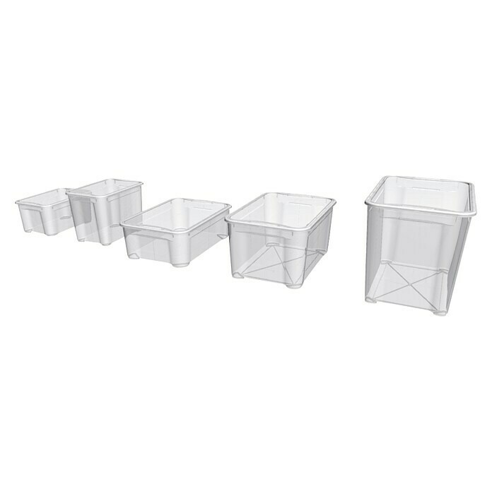 Regalux Clear Box (L x An x Al: 37,6 x 26 x 28,3 cm, 20 l, Transparente)