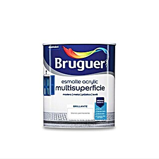 Bruguer Esmalte de color Acrylic multisuperficie (Blanco, 750 ml, Brillante)(Blanco, 750 ml, Brillante)
