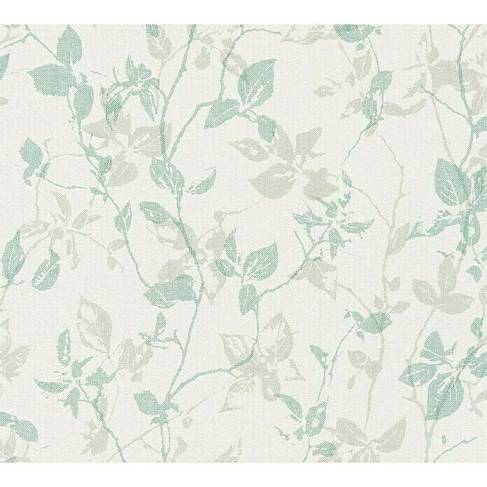 AS Creation Hygge Vliestapete Floral (Grau/Grün, Floral, 10,05 x 0,53 m) -