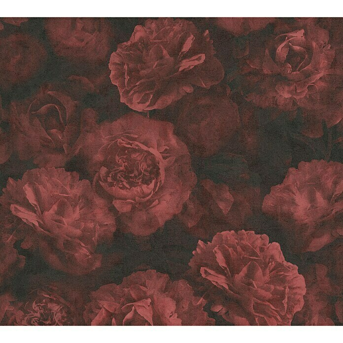 AS Creation Neue Bude 2.0 ED II Vliestapete Barock (Rot, Floral, 10,05 x 0,53 m)