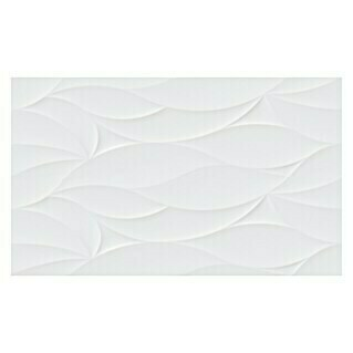Revestimiento de pared Ondas (33 x 55 cm, Blanco, Brillante)(33 x 55 cm, Blanco, Brillante)