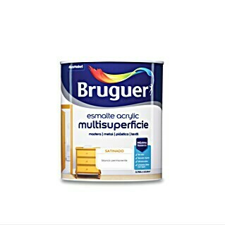 Bruguer Esmalte de color Acrylic multisuperficie (Blanco, 750 ml, Satinado)(Blanco, 750 ml, Satinado)