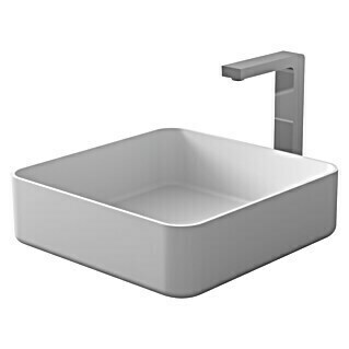 Camargue Lavabo Molí (An x L: 38 x 38 cm, Solid Surface, Blanco)(An x L: 38 x 38 cm, Solid Surface, Blanco)